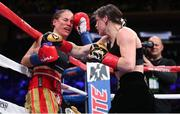 15 December 2018; Katie Taylor, right, in action against Eva Wahlstrom during their WBA & IBF World Lightweight Championship fight at Madison Square Garden in New York, USA. Photo by Ed Mulholland / Matchroom Boxing USA via Sportsfile
