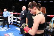15 December 2018; Katie Taylor ahead of  facing Eva Wahlstrom in their WBA & IBF World Lightweight Championship fight at Madison Square Garden in New York, USA. Photo by Ed Mulholland / Matchroom Boxing USA via Sportsfile