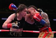 15 December 2018; Katie Taylor, left, in action against Eva Wahlstrom during their WBA & IBF World Lightweight Championship fight at Madison Square Garden in New York, USA. Photo by Ed Mulholland / Matchroom Boxing USA via Sportsfile