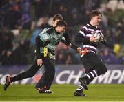 15 December 2018; Action from the Bank of Ireland Half-Time Minis between Balbriggan Stingers and Terenure Tigers during the Heineken Champions Cup Pool 1 Round 4 match between Leinster and Bath at the Aviva Stadium in Dublin. Photo by Seb Daly/Sportsfile