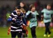 15 December 2018; Action from the Bank of Ireland Half-Time Minis between Balbriggan Stingers and Terenure Tigers during the Heineken Champions Cup Pool 1 Round 4 match between Leinster and Bath at the Aviva Stadium in Dublin, Photo by Seb Daly/Sportsfile