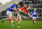 16 December 2018; Jon Nolan of Carlow in action against Leigh Bergin of Laois during the Bord na Móna Walsh Cup Round 2 match between Laois and Carlow at O'Moore Park in Portlaoise, Laois. Photo by Eóin Noonan/Sportsfile