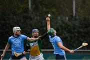16 December 2018; Tom Connolly, right, and Shane Barrett of Dublin in action against James Gorman of Offaly during the Bord na Móna Walsh Cup Round 2 match between Dublin and Offaly at Parnell Park, Dublin. Photo by Harry Murphy/Sportsfile
