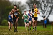 15 December 2018; Shay McEvoy of Kilkenny City Harriers A.C., Co. Kilkenny, competing in the U19 Boys event during the Irish Life Health Novice & Juvenile Uneven Age Cross Country Championships 2018 at Navan Adventure Sports, Navan Racecourse in Meath. Photo by Eóin Noonan/Sportsfile