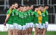 16 December 2018; Meath players stand for Amhrán na bhFiann before the Seán Cox Fundraising match between Meath and Dublin at Páirc Tailteann in Navan, Co Meath. Photo by Piaras Ó Mídheach/Sportsfile