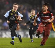 15 December 2018; Action from the Bank of Ireland Half-Time Minis between Wicklow Warriors RFC and Navan RFC Blue Dragons during the Heineken Champions Cup Pool 1 Round 4 match between Leinster and Bath at Aviva Stadium in Dublin. Photo by David Fitzgerald/Sportsfile
