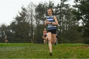 15 December 2018; Hannah Gilliland of Willowfield Harriers, Co. Antrim, competing in the U17 Girls event during the Irish Life Health Novice & Juvenile Uneven Age Cross Country Championships 2018 at Navan Adventure Sports, Navan Racecourse in Meath. Photo by Eóin Noonan/Sportsfile