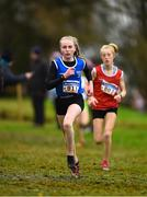 15 December 2018; Shauna McCarthy of Farranfore Maine Valley A.C., Co. Meath, competing in the U15 Girls event during the Irish Life Health Novice & Juvenile Uneven Age Cross Country Championships 2018 at Navan Adventure Sports, Navan Racecourse in Meath. Photo by Eóin Noonan/Sportsfile