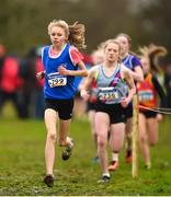 15 December 2018; Louise O'Mahony of B.M.O.H. A.C. competing in the U15 Girls event during the Irish Life Health Novice & Juvenile Uneven Age Cross Country Championships 2018 at Navan Adventure Sports, Navan Racecourse in Meath. Photo by Eóin Noonan/Sportsfile