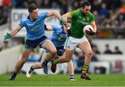 16 December 2018; Graham Reilly of Meath in action against Brian Fenton, left, and Paddy Small of Dublin during the Seán Cox Fundraising match between Meath and Dublin at Páirc Tailteann in Navan, Co Meath. Photo by Piaras Ó Mídheach/Sportsfile