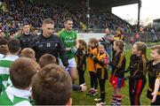 16 December 2018; Children from St Peter's Dunboyne and Round Towers Clondalkin form a guard of honour for the Meath and Dublin teams before the Seán Cox Fundraising match between Meath and Dublin at Páirc Tailteann in Navan, Co Meath. Photo by Piaras Ó Mídheach/Sportsfile