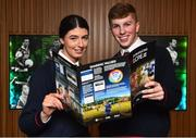 18 December 2018; The GAA today launched the innovative online GAA learning portal LCPE.ie, which supports the introduction of Physical Education at Higher and Ordinary Level in the Leaving Certificate Examination. Pictured are Rachel Fraughen and Lewis Nolan, students from Ratoath College, Co. Meath, at Croke Park in Dublin. Photo by Seb Daly/Sportsfile