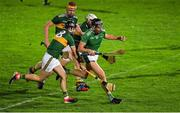 20 December 2018; Gearóid Hegarty of Limerick in action against Daithi Griffin, Micheal O'Leary and Mikey Boyle of Kerry during the Co-Op Superstores Munster Hurling League 2019 match between Kerry and Limerick at Austin Stack Park in Tralee, Kerry. Photo by Brendan Moran/Sportsfile
