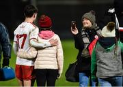 20 December 2018; Darragh Canavan of Tyrone getting his picture taken with a young supporter after the Bank of Ireland Dr. McKenna Cup Round 1 match between Derry and Tyrone at Celtic Park, Derry. Photo by Oliver McVeigh/Sportsfile