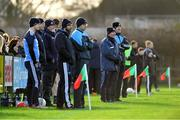 22 December 2018; Dublin manager Jim Gavin, second from right, during the Annual Dubs Stars Football Challenge match between Dublin and Dubs Stars at Naomh Barróg in Dublin. Photo by Piaras Ó Mídheach/Sportsfile