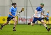 22 December 2018; Fergal Whitely of Dubs Stars in action against Ronan Smith of Dublin during the Annual Dubs Stars Hurling Challenge match between Dublin and Dubs Stars at Naomh Barróg in Dublin. Photo by Piaras Ó Mídheach/Sportsfile