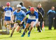 22 December 2018; Lee Gannon of Dublin in action against Ryan O'Dwyer of Dubs Stars during the Annual Dubs Stars Hurling Challenge match between Dublin and Dubs Stars at Naomh Barróg in Dublin. Photo by Piaras Ó Mídheach/Sportsfile