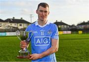 22 December 2018; Dublin captain Caolan Conway with the cup after the Annual Dubs Stars Hurling Challenge match between Dublin and Dubs Stars at Naomh Barróg in Dublin. Photo by Piaras Ó Mídheach/Sportsfile