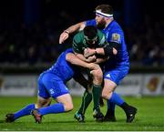 22 December 2018; Paul Boyle of Connacht is tackled by Bryan Byrne, left, and Michael Bent of Leinster during the Guinness PRO14 Round 11 match between Leinster and Connacht at the RDS Arena in Dublin. Photo by Matt Browne/Sportsfile