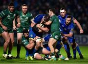 22 December 2018; Rhys Ruddock of Leinster is tackled by Caolin Blade, right, and Peter McCabe of Connacht during the Guinness PRO14 Round 11 match between Leinster and Connacht at the RDS Arena in Dublin. Photo by Matt Browne/Sportsfile