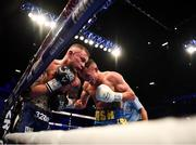 22 December 2018; Josh Warrington, right, in action against Carl Frampton during their IBF World Featherweight title bout at the Manchester Arena in Manchester, England. Photo by David Fitzgerald/Sportsfile