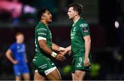 22 December 2018; Bundee Aki, left, and Jack Carty of Connacht during the Guinness PRO14 Round 11 match between Leinster and Connacht at the RDS Arena in Dublin. Photo by Ramsey Cardy/Sportsfile