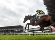 27 December 2018; Sir Erec, with Mark Walsh up, on their way to winning the Paddy Power 'Only 363 Days Till Christmas' 3-Y-O Maiden Hurdle during day two of the Leopardstown Festival at Leopardstown Racecourse in Dublin. Photo by Eóin Noonan/Sportsfile