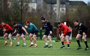 27 December 2018; Players, from left, Andrew Conway, Ciaran Parker, Ian Keatley, Stephen Archer, Mike Sherry, and Niall Scannell during Munster Rugby squad training at the University of Limerick in Limerick. Photo by Diarmuid Greene/Sportsfile