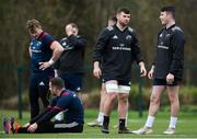 27 December 2018; Conor Oliver, centre, and Calvin Nash during Munster Rugby squad training at the University of Limerick in Limerick. Photo by Diarmuid Greene/Sportsfile