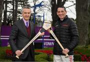 27 December 2018; Leading racehorse trainer Jim Bolger and National Hunt champion jockey Davy Russell have revealed that Hurling for Cancer Research 2018 has raised €138,700 for the Irish Cancer Society's lifesaving cancer research. The duo's celebrity hurling match has been a permanent fixture in sporting calendars for seven years now, raising over €830K for the Irish Cancer Society's cancer research projects during that time. Pictured is Leading racehorse trainer Jim Bolger, left, and National Hunt champion jockey Davy Russell at Leopardstown Racecourse in Dublin. Photo by Eóin Noonan/Sportsfile