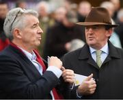 28 December 2018; Eddie O'Leary of Gigginstown House Stud, right, and Michael O'Leary, CEO of Ryanair, in attendance during the Sky Sports Racing Maiden Hurdle during day three of the Leopardstown Festival at Leopardstown Racecourse in Dublin. Photo by David Fitzgerald/Sportsfile
