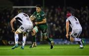 28 December 2018; Quinn Roux of Connacht in action against Kieran Treadwell, left, and Eric O'Sullivan of Ulster during the Guinness PRO14 Round 12 match between Connacht and Ulster at the Sportsground in Galway. Photo by Piaras Ó Mídheach/Sportsfile