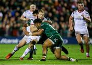 28 December 2018; Will Addison of Ulster is tackled by Jarrad Butler, behind, and Bundee Aki of Connacht during the Guinness PRO14 Round 12 match between Connacht and Ulster at the Sportsground in Galway. Photo by John Dickson/Sportsfile