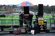 29 December 2018; A general view of bookmakers setting up their stall ahead of day four of the Leopardstown Festival at Leopardstown Racecourse in Dublin. Photo by Barry Cregg/Sportsfile