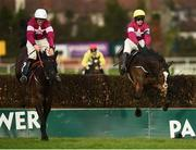 29 December 2018; Delta Work, left, with Davy Russell up, jumps the last ahead of Mortal, with Mark Walsh up, on their way to winning the Neville Hotels Novice Steeplechase during day four of the Leopardstown Festival at Leopardstown Racecourse in Dublin. Photo by Barry Cregg/Sportsfile
