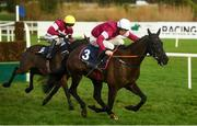 29 December 2018; Delta Work, with Davy Russell up, right, race ahead of Mortal, with Mark Walsh up, on their way to winning the Neville Hotels Novice Steeplechase during day four of the Leopardstown Festival at Leopardstown Racecourse in Dublin. Photo by David Fitzgerald/Sportsfile