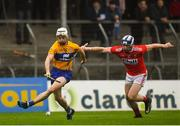 29 December 2018; Ryan Taylor of Clare in action against Seán O'Donoghue of Cork during the Co-Op Superstores Munster Hurling League 2019 match between Clare and Cork at Cusack Park in Clare. Photo by Harry Murphy/Sportsfile