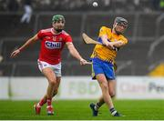 29 December 2018; Shane Golden of Clare in action against Aidan Walsh of Cork during the Co-Op Superstores Munster Hurling League 2019 match between Clare and Cork at Cusack Park in Clare. Photo by Harry Murphy/Sportsfile