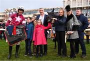 29 December 2018; Davy Russell with the winning connections after winning the Neville Hotels Novice Steeplechase on Delta Work during day four of the Leopardstown Festival at Leopardstown Racecourse in Dublin. Photo by David Fitzgerald/Sportsfile