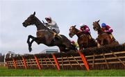 29 December 2018; Sharjah, with Patrick Mullins up, left, jump the last ahead of Samcro, with Jack Kennedy up, centre, and Tombstone, with Davy Russell up, on their way to winning the Ryanair Hurdle during day four of the Leopardstown Festival at Leopardstown Racecourse in Dublin. Photo by David Fitzgerald/Sportsfile