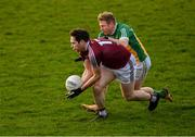 29 December 2018; Callum McCormack of Westmeath in action against Niall Darby of Offaly during the Bord na Móna O'Byrne Cup Round 2 match between Westmeath and Offaly at Lakepoint Park, St Loman's GAA Club in Mullingar, Westmeath. Photo by Piaras Ó Mídheach/Sportsfile