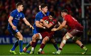 29 December 2018; Conor Murray of Munster is tackled by Noel Reid of Leinster during the Guinness PRO14 Round 12 match between Munster and Leinster at Thomond Park in Limerick. Photo by Ramsey Cardy/Sportsfile