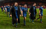 29 December 2018; Leinster players including Cian Healy, Ed Byrne, Rhys Ruddock, and Noel Reid after the Guinness PRO14 Round 12 match between Munster and Leinster at Thomond Park in Limerick. Photo by Diarmuid Greene/Sportsfile