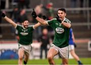 2 December 2018; Michael Carroll of Gaoth Dobhair celebrates after the AIB Ulster GAA Football Senior Club Championship Final match between Gaoth Dobhair and Scotstown at Healy Park in Tyrone. Photo by Oliver McVeigh/Sportsfile
