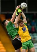 30 December 2018; Aidan Rushe of Queens University Belfast in action against Lorcan Connor of Donegal during the Bank of Ireland Dr McKenna Cup Round 1 match between Donegal and QUB at MacCumhaill Park in Ballybofey, Donegal. Photo by Oliver McVeigh/Sportsfile