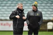30 December 2018; Donegal manager Declan Bonner, right, with selector Stephen Rochford before the Bank of Ireland Dr McKenna Cup Round 1 match between Donegal and QUB at MacCumhaill Park in Ballybofey, Donegal. Photo by Oliver McVeigh/Sportsfile