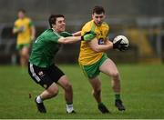 30 December 2018; Jamie Brennan of Donegal in action against Conor McCloskey of Queens University Belfast during the Bank of Ireland Dr McKenna Cup Round 1 match between Donegal and QUB at MacCumhaill Park in Ballybofey, Donegal.  Photo by Oliver McVeigh/Sportsfile