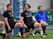 31 December 2018; Andrew Porter, centre, during Leinster Rugby squad training at Energia Park in Donnybrook, Dublin. Photo by Ramsey Cardy/Sportsfile