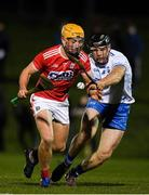 2 January 2019; Michael O'Halloran of Cork in action against Kevin Moran of Waterford during the Co-Op Superstores Munster Hurling League 2019 match between Cork and Waterford at Mallow GAA Grounds in Mallow, Co. Cork.  Photo by Eóin Noonan/Sportsfile