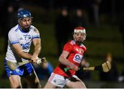 2 January 2019; Michael Walsh of Waterford scores his side's first goal during the Co-Op Superstores Munster Hurling League 2019 match between Cork and Waterford at Mallow GAA Grounds in Mallow, Co. Cork.  Photo by Eóin Noonan/Sportsfile